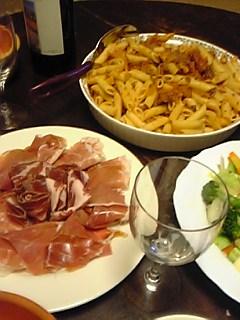 ボローニャ風の夕飯